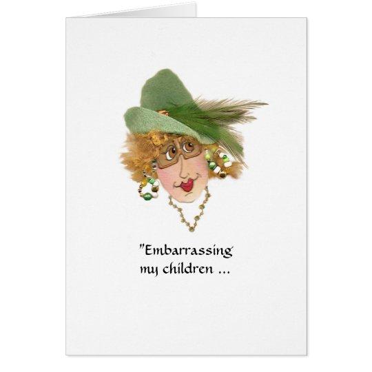 Verwirren meiner Kinderwunderlichen Dame Grußkarte
