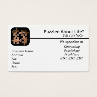 Verwirrt über Leben-Visitenkarte Visitenkarte