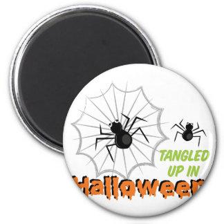 Verwirrtes Halloween Runder Magnet 5,1 Cm