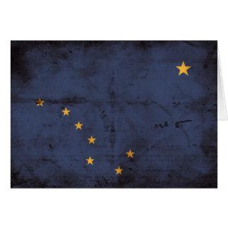 Verwitterte Alaska-Flagge Karte