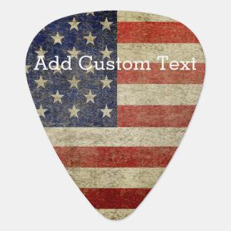 Verwitterte, beunruhigte amerikanische Flagge Plektron