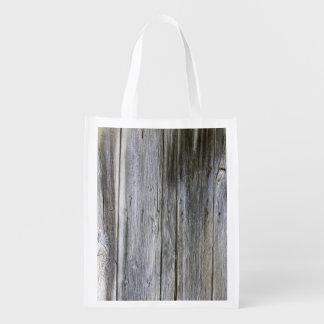 Verwitterte Tür-Planken-wiederverwendbare Tasche Wiederverwendbare Einkaufstasche