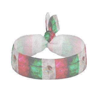 Verwitterte Vintage Mexiko-Flagge Haarschleife