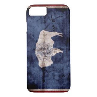 Verwitterte Wyoming-Flagge iPhone 8/7 Hülle