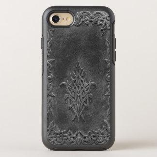 Verwittertes prägeartiges keltisches Knoten-Muster OtterBox Symmetry iPhone 8/7 Hülle