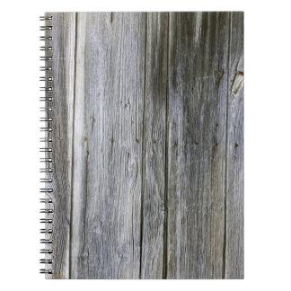Verwittertes Tür-Planken-Foto-Notizbuch Spiral Notizblock