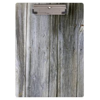 Verwittertes Tür-Planken-Klemmbrett