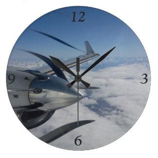 Verworfene Propeller-Uhr Große Wanduhr