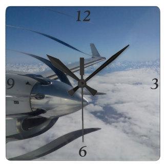 Verworfene Propeller-Uhr Quadratische Wanduhr