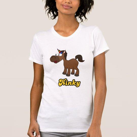 Verworren: Schwarzes Einhorn mit Afro T-Shirt