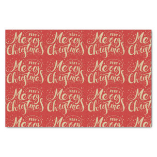 Very Merry Red Gold Tissue Paper Seidenpapier
