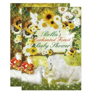 Verzauberte Einhorn-Babyparty-Einladungen 12,7 X 17,8 Cm Einladungskarte