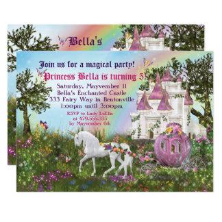 Verzauberte Unicorn-Schloss-Prinzessin Party 12,7 X 17,8 Cm Einladungskarte