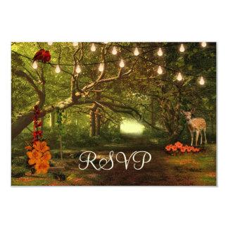 Verzauberte Waldfeenhafte Geschichten-Schnur-Licht 8,9 X 12,7 Cm Einladungskarte
