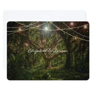 Verzauberter Wald, Schnur-Lichter, Wedding Karte