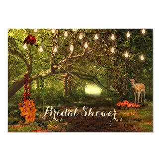 Verzaubertes Waldschnur-Licht-Brautparty laden ein 12,7 X 17,8 Cm Einladungskarte