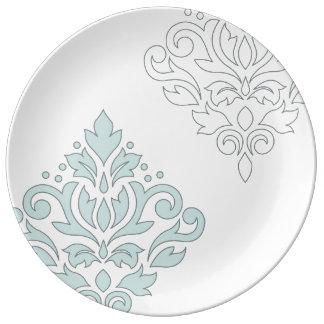 Verzeichnen Sie Enten-Ei-blaues Grau-Gewicht der Porzellanteller