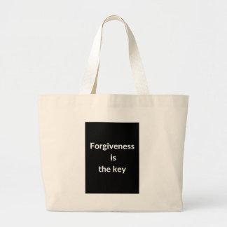 Verzeihen ist der Schlüssel Jumbo Stoffbeutel