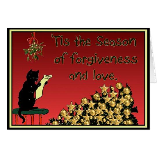 Verzeihen und Liebe Weihnachtskarte Grußkarte