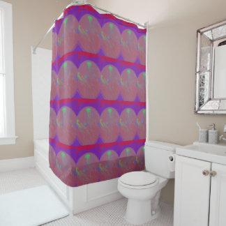 Verzerrte Quallen Duschvorhang