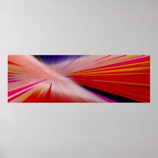 """""""Verzerrungs-Geschwindigkeits-"""" buntes schmales Poster"""