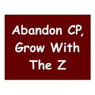 Verzicht CP, wachsen mit dem Z Postkarte