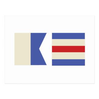 Verzicht-Schiffs-Flaggen Postkarte