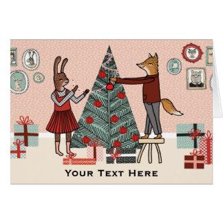 Verzieren Sie den Baum - kundengerechtes Grußkarte