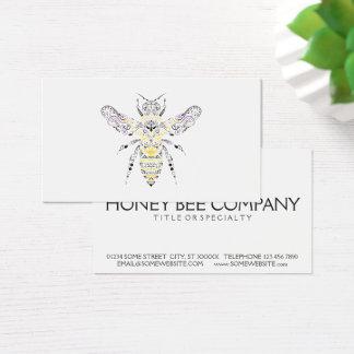 verzierte Honigbiene Visitenkarte