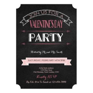 Verzierte Tafel  Valentine-Party Einladung