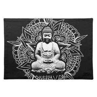 Verzierter Buddha Stofftischset