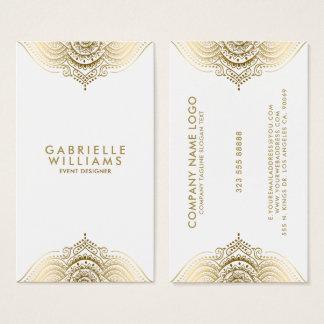 Verzierter girly Goldspitzeentwurf Visitenkarte