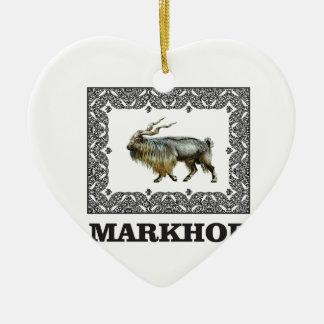 Verzierter Markhorrahmen Keramik Ornament