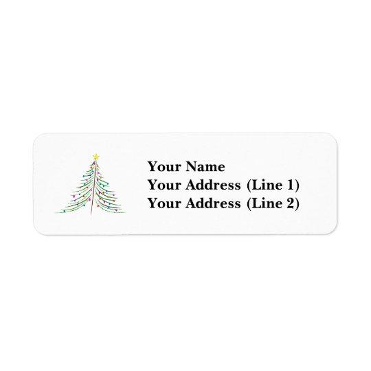 Verzierter Weihnachtsbaum Rücksendeetiketten
