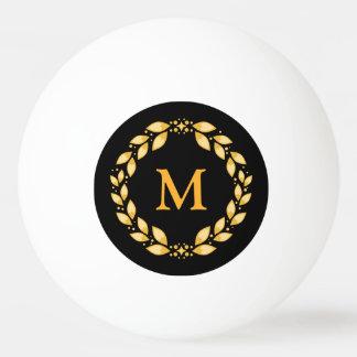 Verziertes goldenes Leaved römisches Ping-Pong Ball