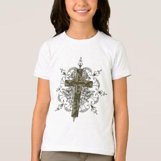 Verziertes Kreuz T-Shirt