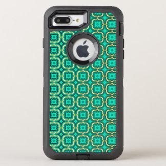 Verziertes Stachelquatrefoil (Farbe justierbar) OtterBox Defender iPhone 8 Plus/7 Plus Hülle