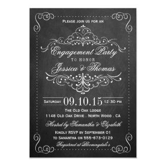 Verziertes Strudel-Tafel-Verlobungs-Party oder 12,7 X 17,8 Cm Einladungskarte
