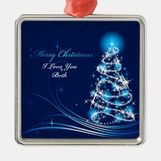 Verzierung der frohen Weihnacht-10 Silbernes Ornament
