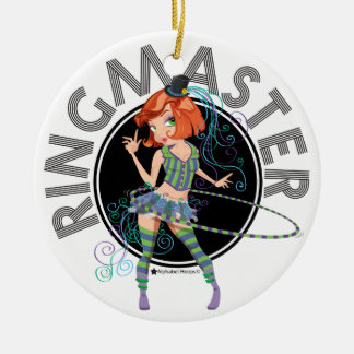 Verzierung des Ringmaster (Redhead) Rundes Keramik Ornament