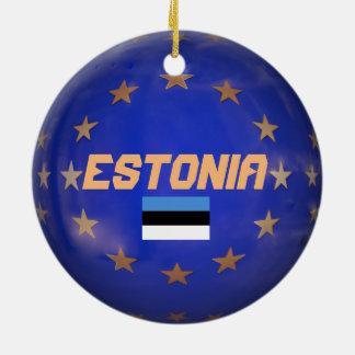 Verzierung Estlands E.U. Custom Christmas Rundes Keramik Ornament