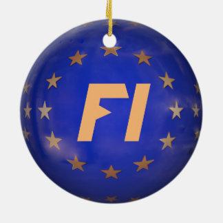 Verzierung Finnlands E.U. Flag Christmas Rundes Keramik Ornament