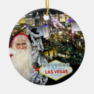 Verzierung Las Vegass Weihnachtsmann Keramik Ornament