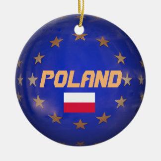 Verzierung Polens E.U. Custom Christmas Rundes Keramik Ornament