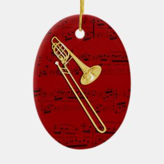 Verzierung - Trombone (Baß) - wählen Sie Ihre Ovales Keramik Ornament