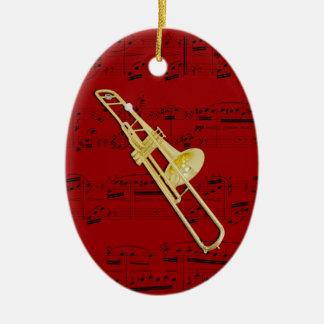 Verzierung - Trombone (Ventil) - wählen Sie Ihre Ovales Keramik Ornament
