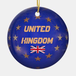 Verzierung Vereinigten Königreichs E.U. Custom Rundes Keramik Ornament