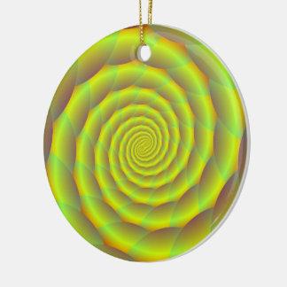 Verzierungs-aufgerollter gelber Seil-Tunnel Keramik Ornament