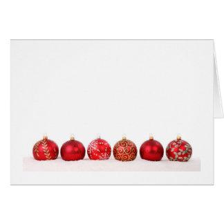 Verzierungs-Ball-Weihnachten Karte