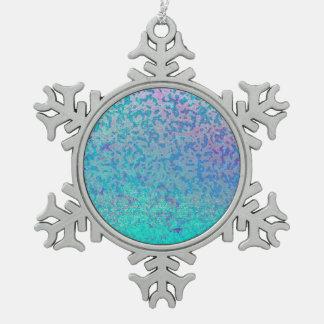 Verzierungs-Glitter-Stern-Staub Schneeflocken Zinn-Ornament
